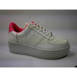 RICH WINDSOR SMITH LEATHER - WHT/NEON PINK